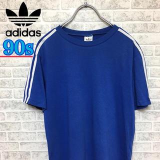アディダス(adidas)の90s!Adidas アディダス ストライプ半袖シャツ(Tシャツ/カットソー(半袖/袖なし))