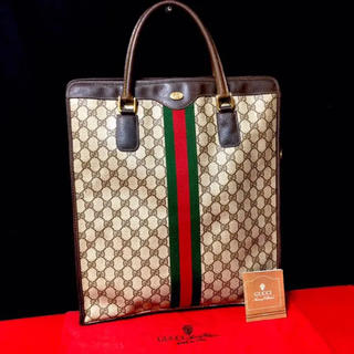 グッチ(Gucci)の超レア‼︎ グッチ オールドグッチ シェリーライン トートバッグ ハンドバッグ(トートバッグ)