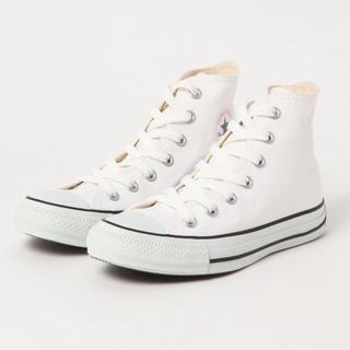コンバース(CONVERSE)の新品❤️コンバース白ハイカット23.5㎝(スニーカー)