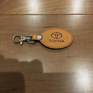 トヨタ(トヨタ)のTOYOTA 革のキーホルダー(キーホルダー)