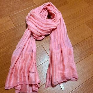 フルラ(Furla)の【塩キャラメル様 専用】フルラ  春色 ストール ピンク(ストール/パシュミナ)