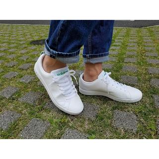 アディダス(adidas)の23.5㎝ ホワイト×グリーン⦅他サイズ22〜32㎝⦆【返品・交換/保証あり】(スニーカー)