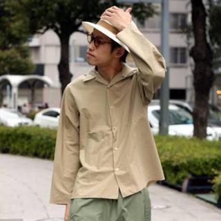 コモリ(COMOLI)のauralee オーラリー オープンカラー シャツ ベージュ (シャツ)