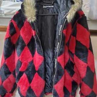 シュプリーム(Supreme)のSupreme Diamond Faux Fur Jacket Red(毛皮/ファーコート)