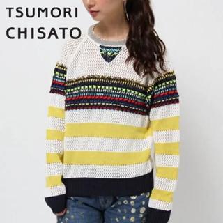 ツモリチサト(TSUMORI CHISATO)の定価3万 ツモリチサト ステッチニット(トレーナー/スウェット)