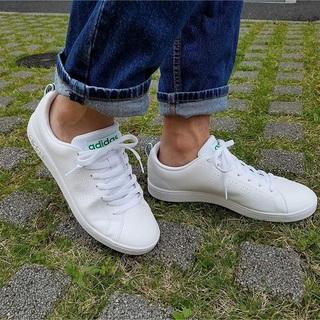 アディダス(adidas)の🔴23.5㎝ ホワイト×グリーン⦅他サイズ22〜32㎝⦆【🔵返品無料】(スニーカー)