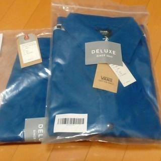 デラックス(DELUXE)の新品 DELUXE x VANS セットアップ 青 size.S(ジャージ)