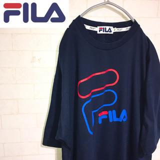 d6f3530676c フィラ(FILA)のFILA フィラ ビッグロゴ Tシャツ スポーツMIX ネイビー 90s(T