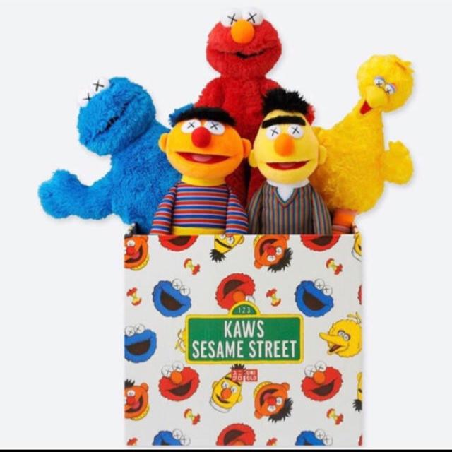 SESAME STREET(セサミストリート)のUNIQLO×KAWSセサミストリートトイコンプリートボックスBOX エンタメ/ホビーのおもちゃ/ぬいぐるみ(ぬいぐるみ)の商品写真