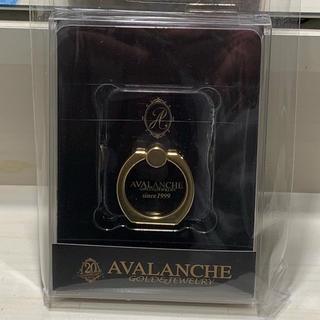 アヴァランチ(AVALANCHE)のアヴァランチ スマホリング  黒 ノベルティ 非売品(その他)