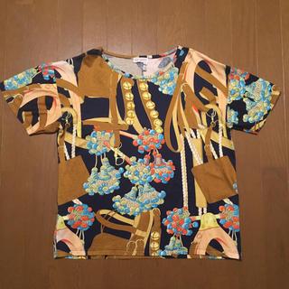 ザラ(ZARA)のロエベヴィンテージTシャツスカーフ柄ザラ好きな方に♡zaraloewe(Tシャツ(半袖/袖なし))