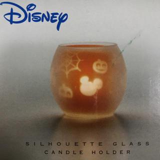 ディズニー(Disney)のディズニーシルエットグラスキャンドルホルダーハロウィン(キャンドル)
