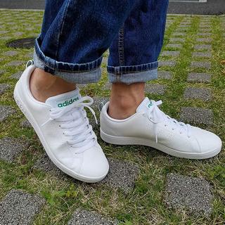 アディダス(adidas)の🔴25.5㎝ ホワイト×グリーン⦅他サイズ22〜32㎝⦆【🔵返品無料】(スニーカー)