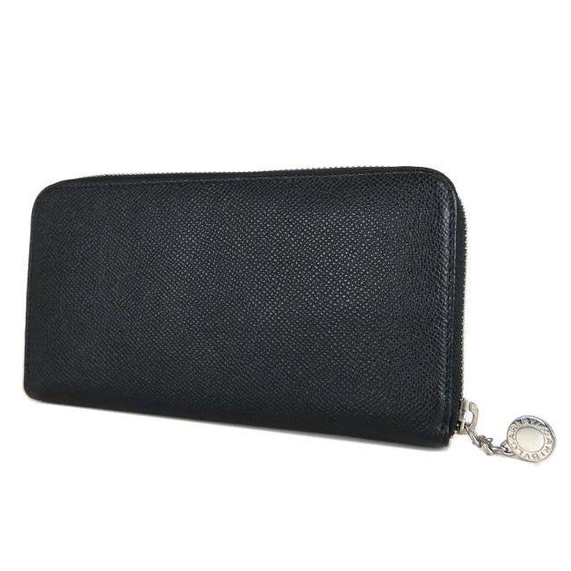 b0794cfdaa87 BVLGARI(ブルガリ)の美品 ブルガリ クラシコ ラウンドファスナー 長財布 ブラック 20886 レディース