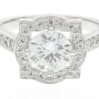 JEWELRY ダイヤモンド リング PT900 D1.006 0.24【中古】(リング(指輪))