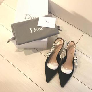 ディオール(Dior)の【本物美品】Diorディオールパンプスサンダル(ハイヒール/パンプス)
