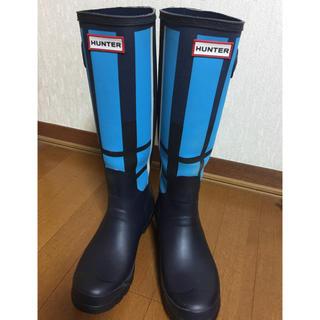 ハンター(HUNTER)のHUNTER ハンター 限定デザイン❣️レインブーツ 24.5cm(レインブーツ/長靴)