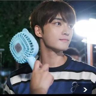ハローキティ(ハローキティ)のキティちゃん ブルー 水色 ポータブル扇風機 ミニ扇風機 USB 充電式 新品(扇風機)