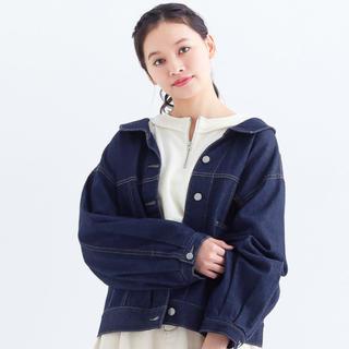 メルロー(merlot)の後ろ編み上げデニムジャケット052-7021(Gジャン/デニムジャケット)