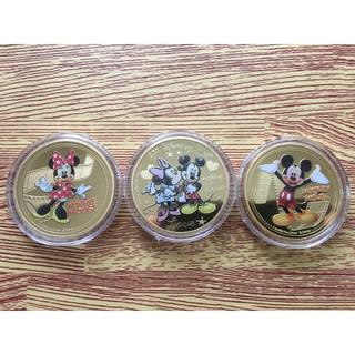 ディズニー(Disney)のコイン 3枚セット ★Disney・ディズニー★ミッキー& ミニー(貨幣)
