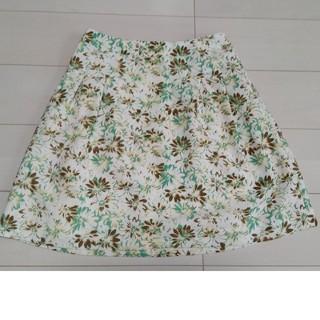 シマムラ(しまむら)のグリーン系花柄スカート(ひざ丈スカート)