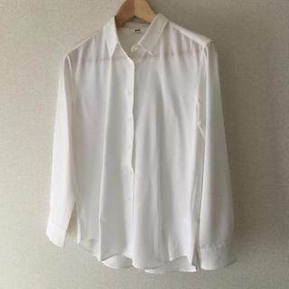 ユニクロ(UNIQLO)のユニクロ イージーケア 白シャツ Sサイズ(シャツ/ブラウス(長袖/七分))