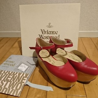 ヴィヴィアンウエストウッド(Vivienne Westwood)の▼ ロッキンホース ベイビー UK5 レッド (ローファー/革靴)