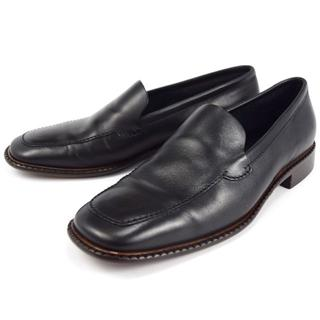 プラダ(PRADA)のダーマ様専用プラダ 22.5cm スリッポン 35 1/2 ブラック革靴(スリッポン/モカシン)