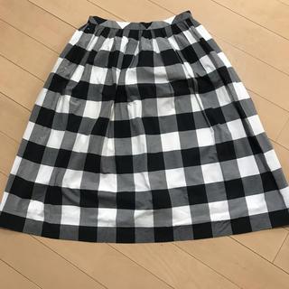 デミルクスビームス(Demi-Luxe BEAMS)のデミルクスビームス ☆ブロックチェックフレアスカート(ひざ丈スカート)