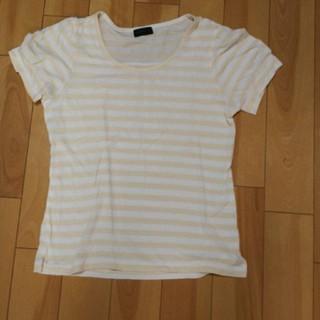 アパートバイローリーズ(apart by lowrys)のピンクベージュボーダーTシャツ(Tシャツ(半袖/袖なし))