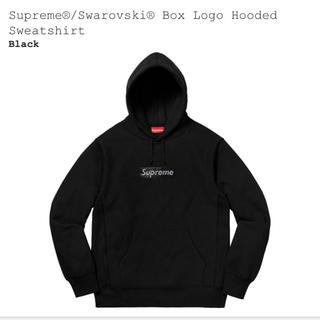 シュプリーム(Supreme)の新品 黒 L supreme swarovski box logo パーカー(パーカー)