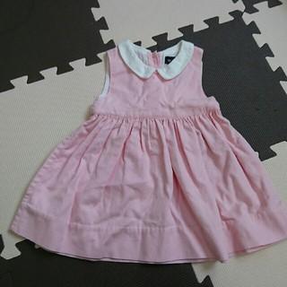 ラルフローレン(Ralph Lauren)のラルフローレンベビー ノースリーブワンピース ピンク 12M(ワンピース)