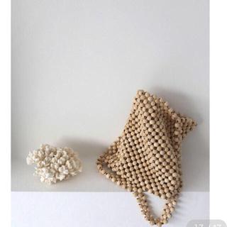トゥデイフル(TODAYFUL)のponpon  handmade wood bag(バッグ)
