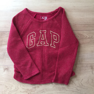 ギャップ(GAP)の中古品 ロンT 90 GAP 赤(Tシャツ/カットソー)