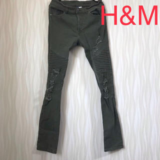 エイチアンドエム(H&M)の送料無料 H&M ダメージ スキニージーンズ(デニム/ジーンズ)