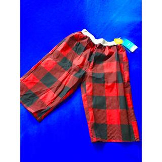 シマムラ(しまむら)の新品   男児 ハーフパンツ赤黒  160センチ(パンツ/スパッツ)