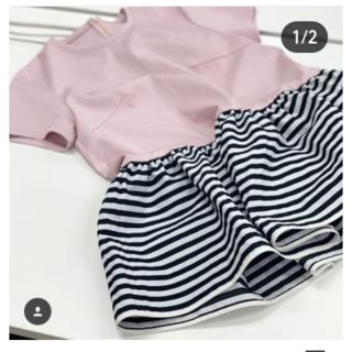 ドゥロワー(Drawer)のkarin様   新品タグ付き  ボーダーズアットバルコニー  ペプラムTEE(Tシャツ(半袖/袖なし))