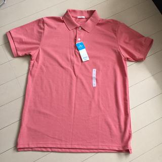 ジーユー(GU)のメンズポロシャツ Lサイズピンク(ポロシャツ)