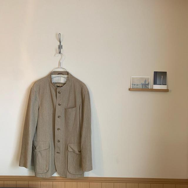 JOSEPH(ジョゼフ)のJOSEPH ABBOUD ヴィンテージ 古着 ノーカラー ジャケット メンズのジャケット/アウター(ノーカラージャケット)の商品写真