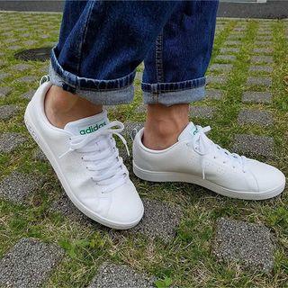 アディダス(adidas)の🔴24㎝ ホワイト×グリーン⦅他サイズ22〜32㎝⦆【🔵返品無料】(スニーカー)