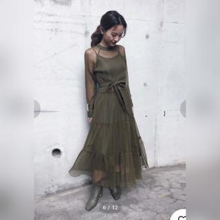 b669adad0914f アメリヴィンテージ(Ameri VINTAGE)のAmeri シャーリング シアー ドレス(ロングワンピース マキシ