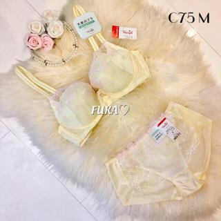 トリンプ(Triumph)のC75♡トリンプ 天使のブラ スリムライン ブラ&ショーツ イエロー(ブラ&ショーツセット)