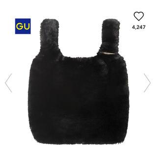 ジーユー(GU)のフェイクファートートバッグ/ブラック(トートバッグ)