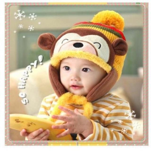 c191bc6c8243a 子供の帽子 冬の赤ちゃん耳たぶの帽子 かわいい 子供用 の通販 by ゆうき ...