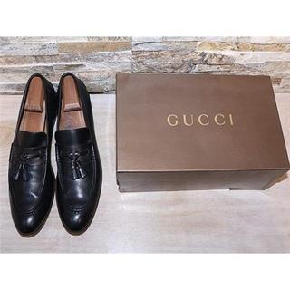 グッチ(Gucci)の定価13万円 美品 グッチ タッセルローファー 黒 べっ甲柄 27,5cm(スリッポン/モカシン)