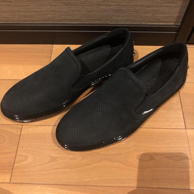 JIMMY CHOO(ジミーチュウ)のジミーチュウスリッポン26センチ未使用品 メンズの靴/シューズ(スリッポン/モカシン)の商品写真