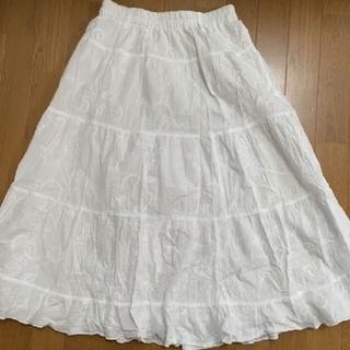 シマムラ(しまむら)の白 スカート(ひざ丈スカート)