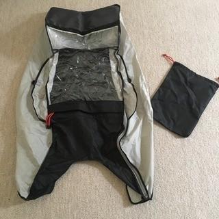 オージーケー(OGK)の美品 OGK製ヘッドレスト付リヤチャイルドシート対応レインカバー(自転車)