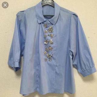 8445f70f7690c チェスティ(Chesty)のチェスティ ビジューブラウス ブルー(シャツ ブラウス(長袖