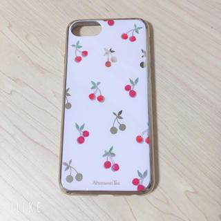アフタヌーンティー(AfternoonTea)のアフタヌーンティー♡チェリー柄が  iPhoneカバー(モバイルケース/カバー)